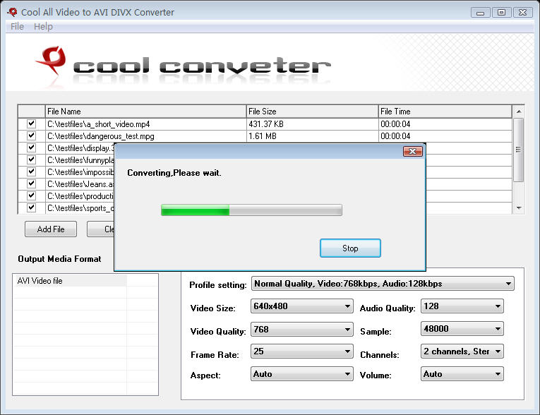 Cool All Video to AVI DIVX Converter