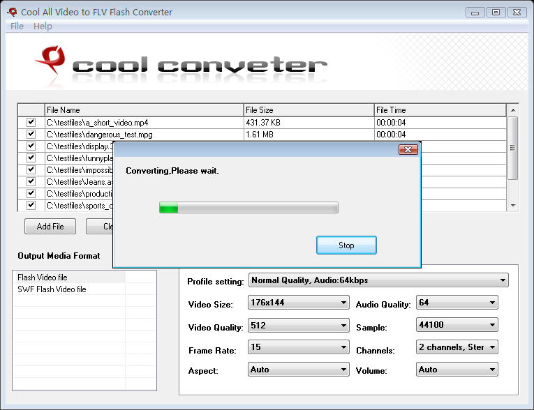 Click to view Cool All Video to FLV Flash Converter 6.0 screenshot