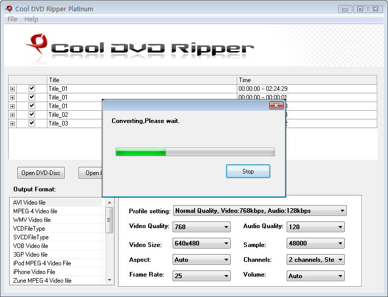 Click to view Cool DVD Ripper Platinum 6.0 screenshot